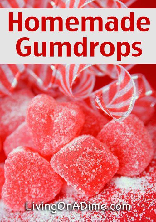 Homemade Gumdrops Recipe - 10 Easy Valentine's Day Candy and Treats Recipes