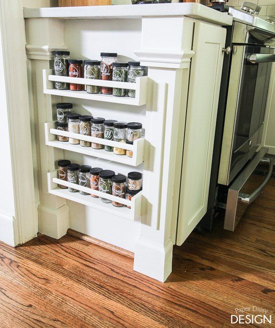 10 hidden spots in your kitchen you could be using for storage spice