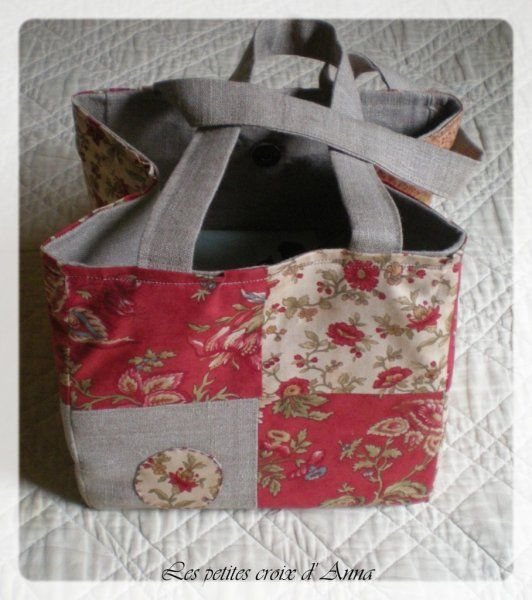 sac carr patchwork avec tuto couture pinterest. Black Bedroom Furniture Sets. Home Design Ideas