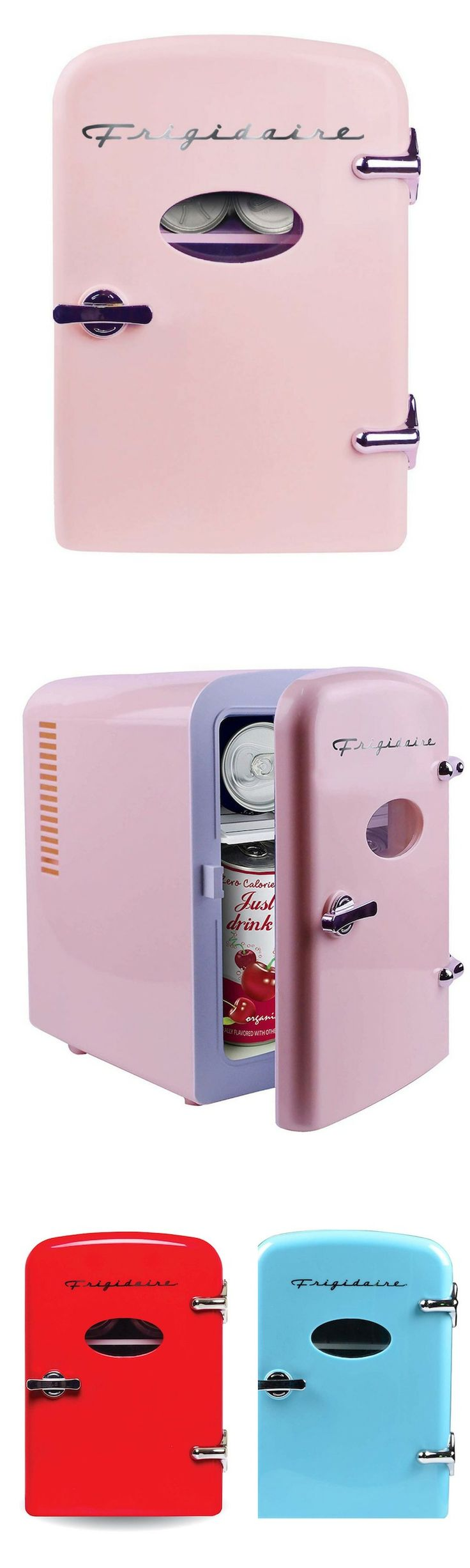 This mini fridge is not only for the cool drinks, you can