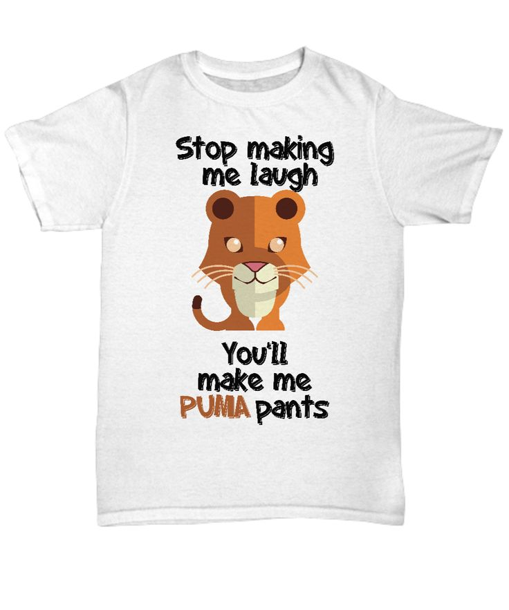 """Here's a funny shirt that plays on the words """"poop my pants"""" and """"puma pants."""" Great gift for lovers of funny things everywhere."""