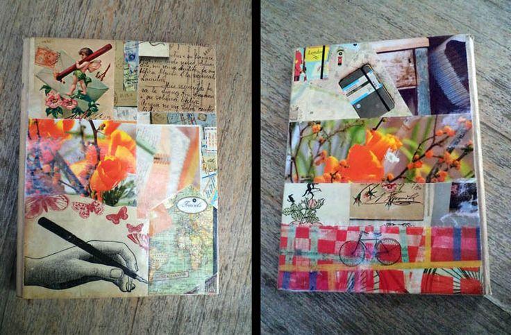 renovación de tapas de un cuaderno antiguo