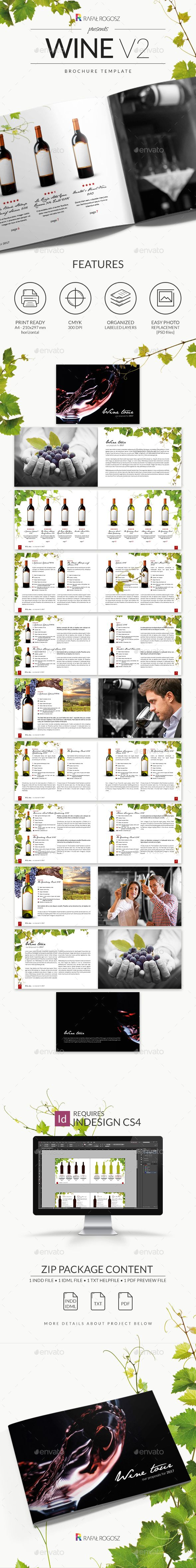 Wine Brochure v2  — PSD Template #landscape #minimalistic • Download ➝ https://graphicriver.net/item/wine-brochure-v2/18632397?ref=pxcr