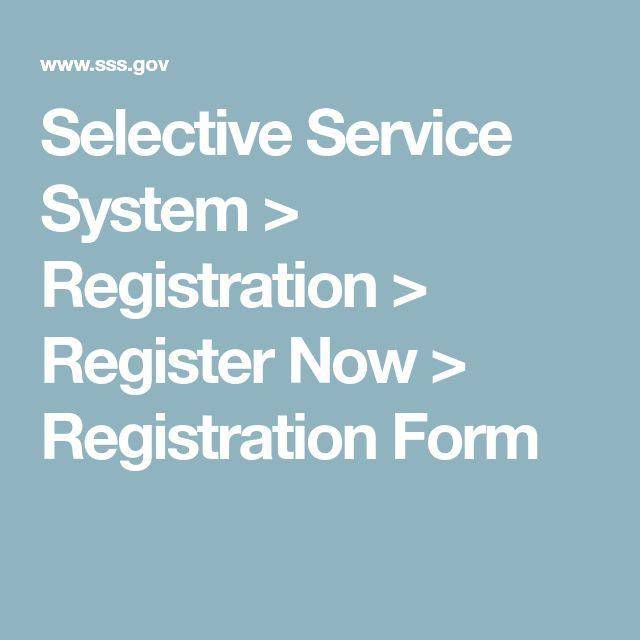 Selective Service System \u003e Registration \u003e Register Now