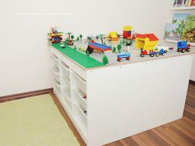 Legotisch, IKEA-Hack, DIY, IKEA, Lego, Spielzimmer, Spielzimmergestaltung, Spielzimmer einrichten, Lego Aufbewahrung, Lego sortieren