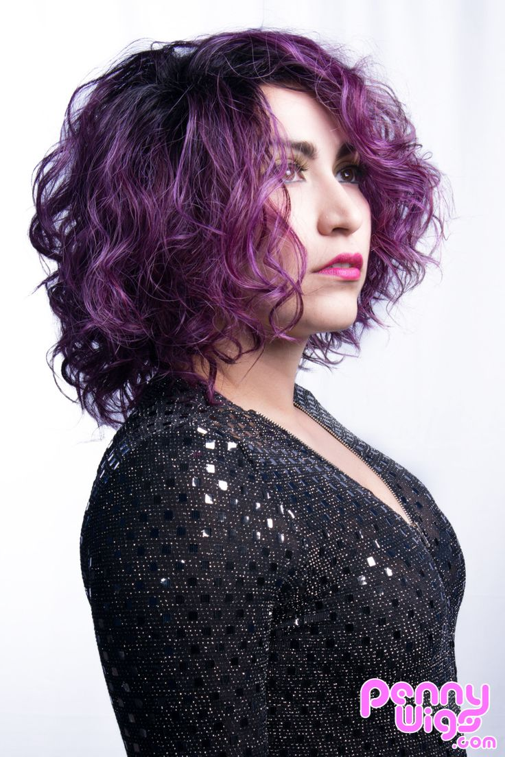 A beautiful wig with different strands of purple color this full wig is lightweight and perfect for both everyday wear or if you have something special planned.