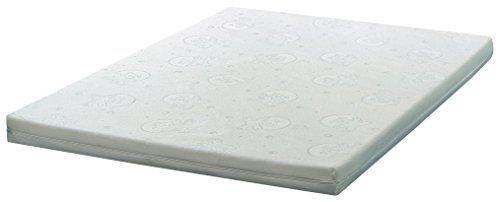 Duvatex Promo Matelas de Parc en Polyester Ecru 93 x 73 x 10 cm: Noyau: Mousse de polyéther avec une densité de 20 kg/m³ Tissu: damas non…