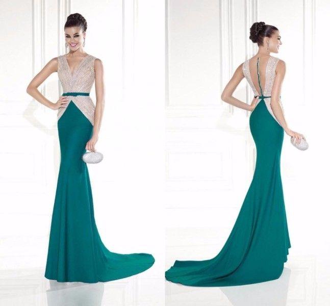 Великолепная-тарик-Ediz-вечерние-платья-русалка-с-v-образным-вырезом-чистой-задняя-часть-бусины-кристаллы-створки