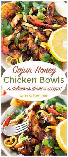 Cajun-Honey Chicken Bowls