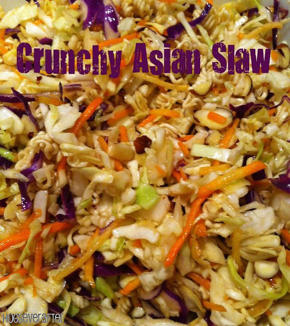 To Love, Laughter, and Hogs Ever After: World Traveler Wednesday: Crunchy Asian Slaw