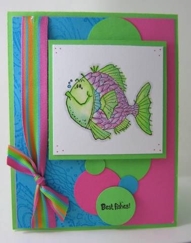 Paradise Fishy Friend by E3stamper - Cards and Paper Crafts at Splitcoaststampers