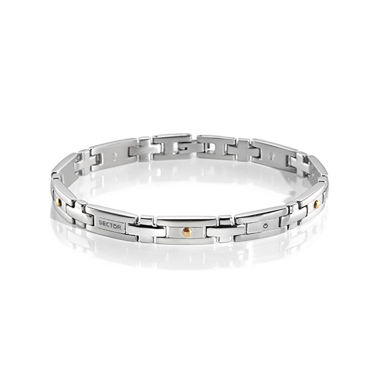 Sector Stainless Steel Basic Link 21cm Bracelet