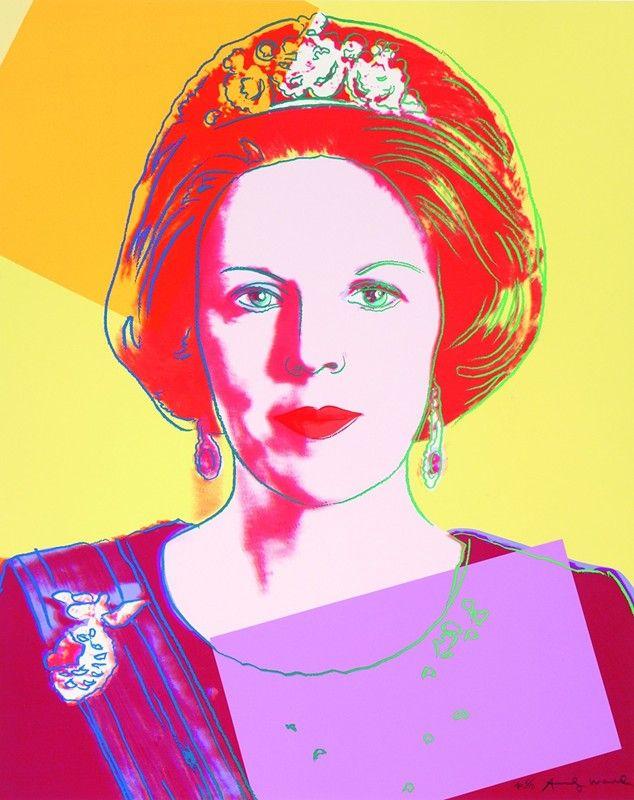 Modeconnect.com - Warhol's Queens, Queen Beatrix, 1985