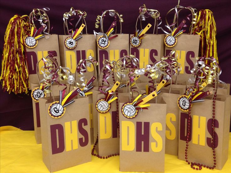 Volleyball spirit / snack bags I made for my daughters team for their tournament this weekend! Good luck Dimond High School!!
