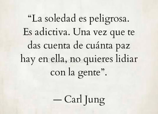 Jung y sus consejos sobre la soledad...