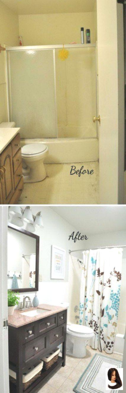 Badezimmer vor und nach Layout Spiegel 28 Ideen um…