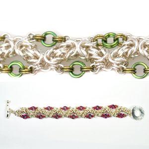 DIY Jewelry Chainmaille Kits Tutorials   Ringed Zig Zag Byzantine - Project   Blue Buddha Boutique