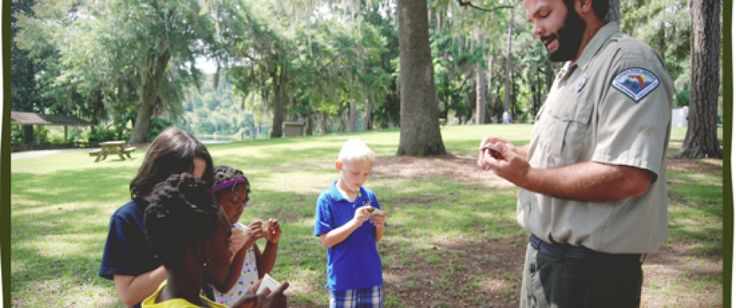 get a junior-ranger kit at a state park and complete the core activities. recite pledge, get member ID card and passport. Get stamps in passport when visiting state parks in FL