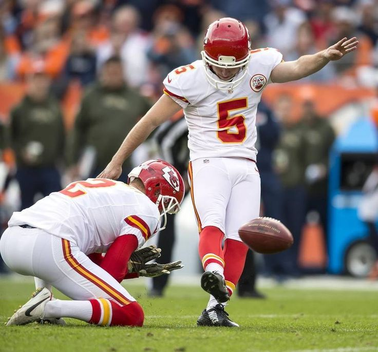 Kansas City Chiefs kicker Cairo Santos (5) made the first of his 5 (of 6) field goals against the Denver Broncos on Sunday, November 15, 2015 at Sports Authority Field in Denver, Co. The Chiefs won, 29-13.