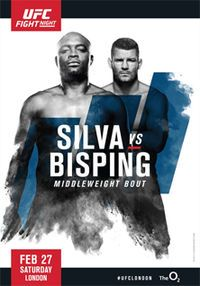Stream Silva vs. Bisping Kodi  The long awaited UFC fight Night London is here. Fight Night London's main event between UFC legends Anderson Silva and Michael Bisping. The two middleweights square off on Saturday streaming live and only on UFC FIG...