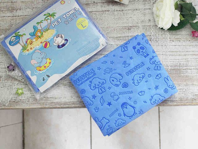 Cartoon dog pet cat Absorbent microfiber Bath towel bathrobe Quick dry Suede material dog hair dry towel for dogs