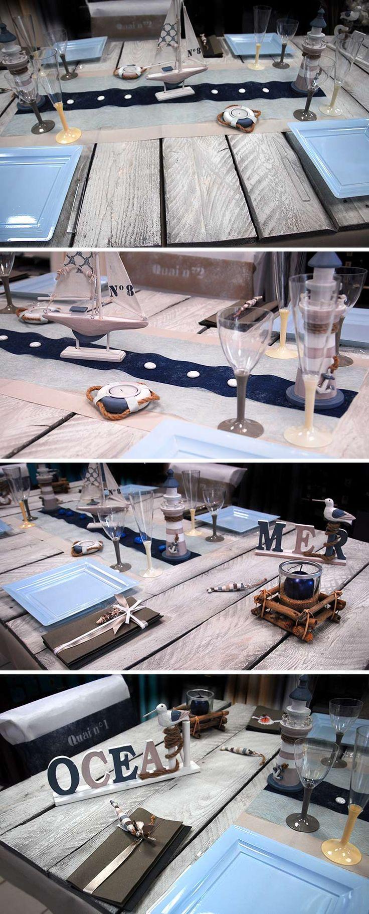 D coration de table de la mer pour un anniversaire sur le th me de la mer a - Decoration table mer ...