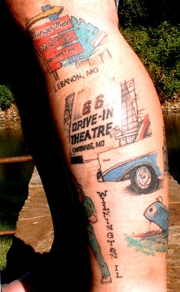 Ron Jones, the Route 66 Tattoo Man: covered with pics of ...