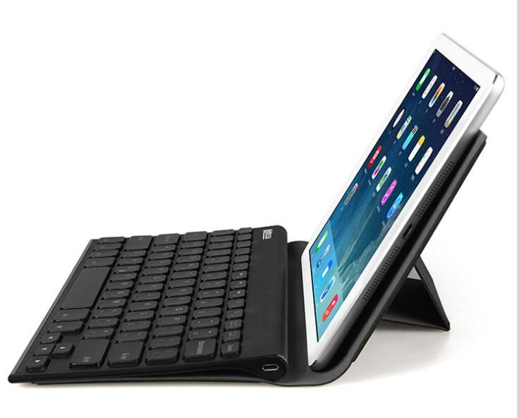 Stainless Steel Portable Bluetooth Keyboard for iOS, Android, MacOS, Windows Tablets PC Smartphone Broad Compatibility: Use with all four major operating systems supporting Bluetooth (iOS, Android, Mac OS and Windows), including iPad Pro, 1, 2, Air, Air 2 / iPad mini 3, 2, 1, Retina / iPhone / Android Tablets like Samsung Galaxy Tab, Google Nexus / Windows, etc. Ergonomic design: Stainless steel material gives heavy duty feeling, low-profile keys offer quiet and comfortable typing. 6-Month…