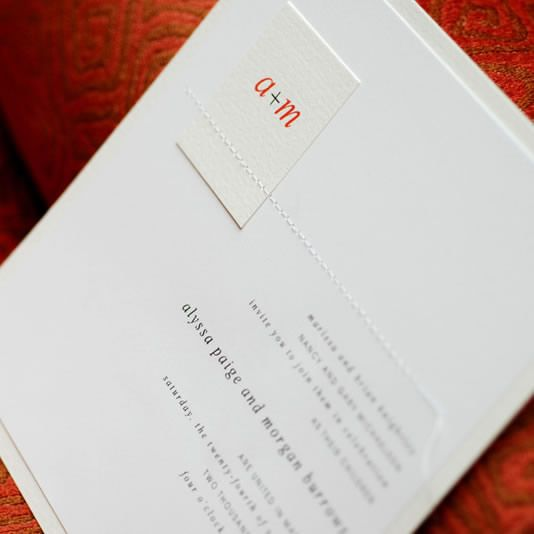 With Hot Typography And Sizzling Sewing, This Card Is The Very Model Of Hip Wedding  Invitation Design.