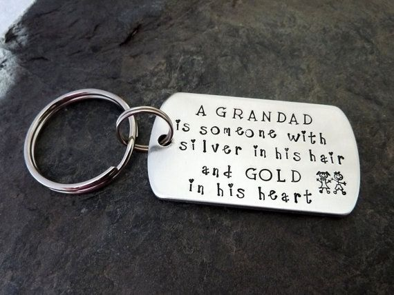 Grandad keyring, Fathers Day, Grandpa, family gift, stocking filler, Grandparents gift,