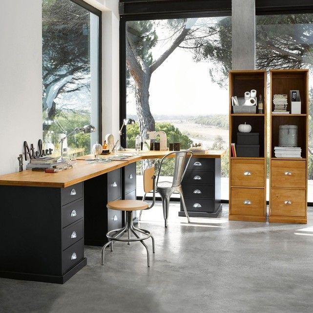 les 116 meilleures images du tableau d co bureau sur pinterest bureau metal bureaux en m tal. Black Bedroom Furniture Sets. Home Design Ideas