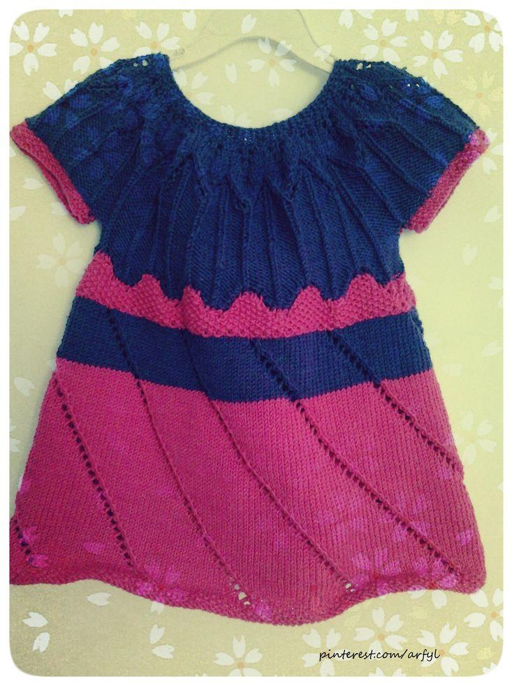 gestricktes  Kleid,   Mädchen,  girl,  knitting