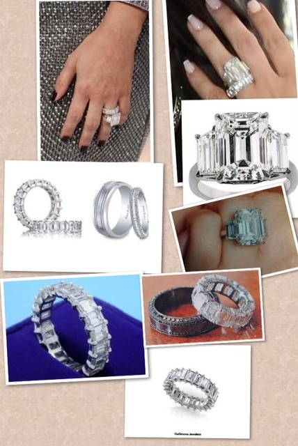 wanted:  3-5 ct emerald cut diamond ring; matching emerald cut eternity diamond band ring