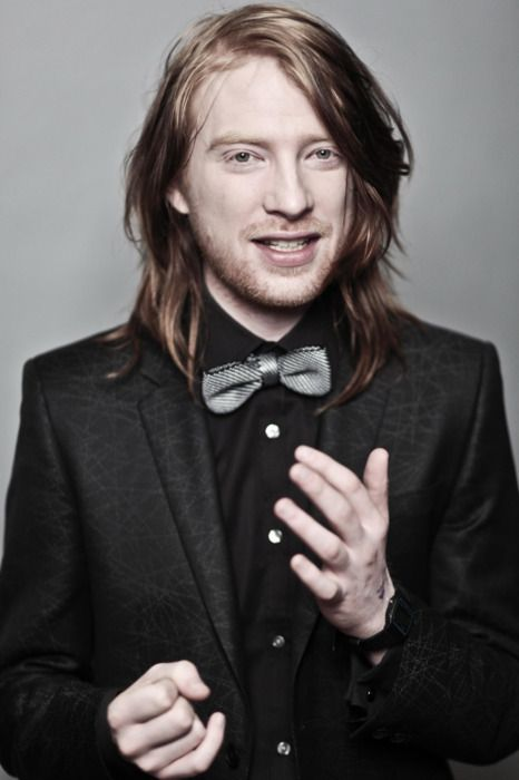 Domhnall Gleeson.  bill weasley, currently playing my favorite character in anna karenina, and just a beautiful red headed man.