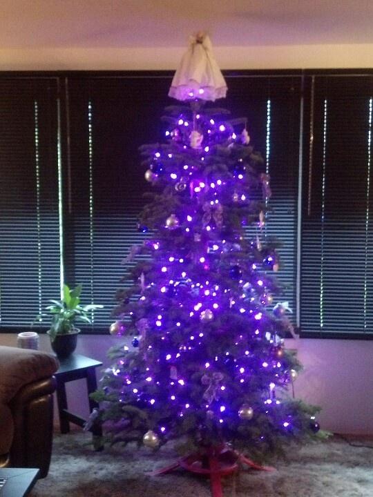 purple christmas tree lights - Purple Christmas Tree Lights