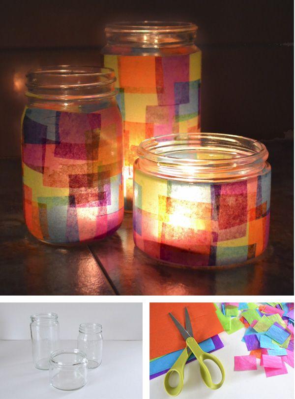Las 25 mejores ideas sobre vidrio reciclado en pinterest y - Botellas con velas ...