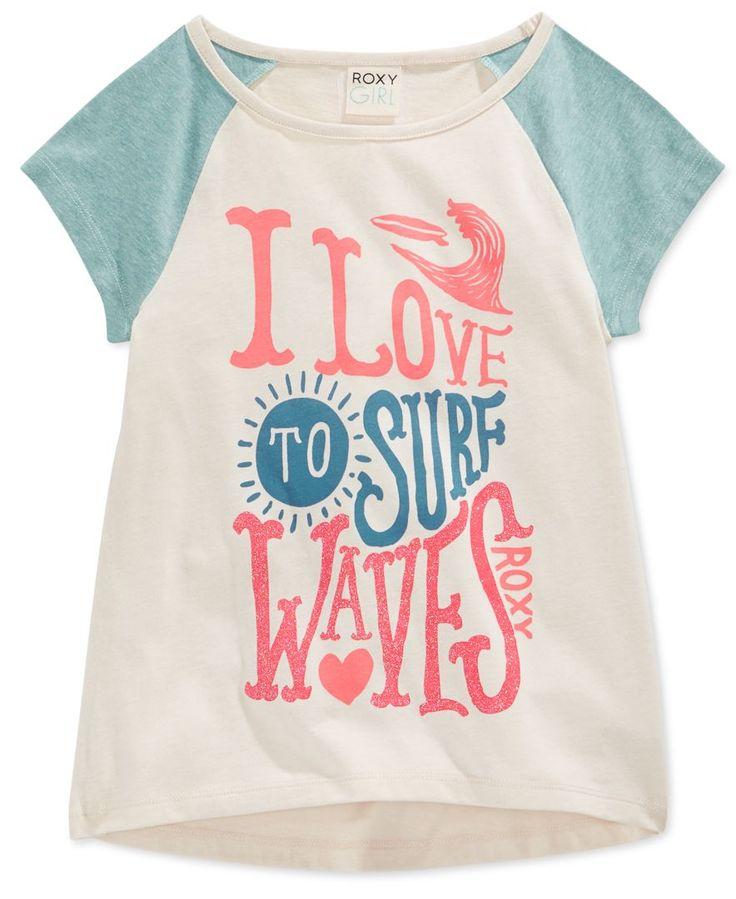 Roxy Girls' I Love To Surf Waves T-Shirt