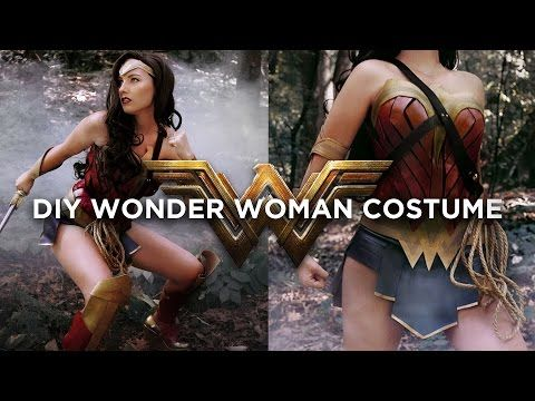DIY WONDER WOMAN COSTUME|THE SORRY GIRLS - YouTube