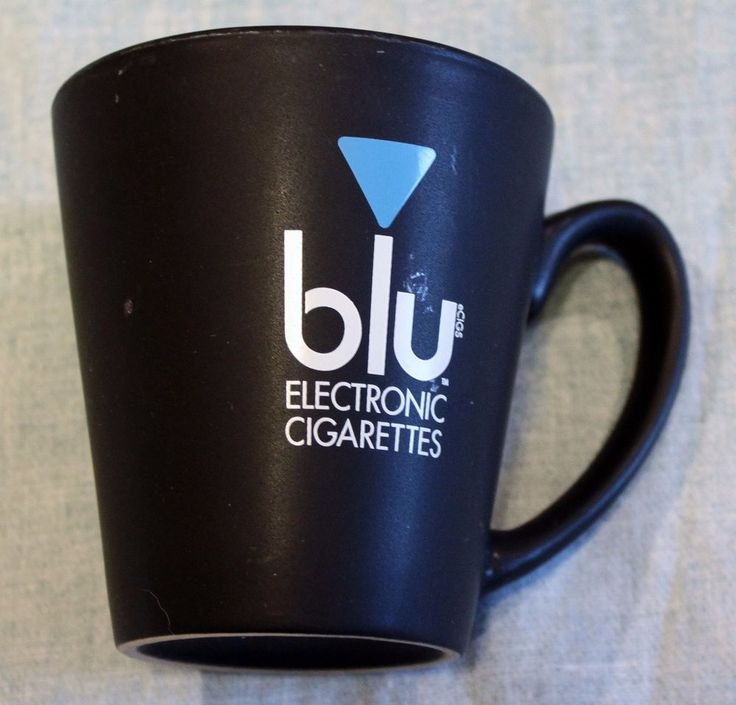 Blu Electronic Cigarettes Coffee Mug Tea Cup Hot Chocolate Black Advertising #BluElectronicCigarettes