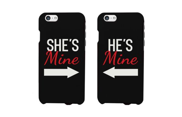 She's Mine and He's Mine New Edition Matching Couple Phone Cases for iPhone 4, iPhone 4S, iPhone 5S, iPhone 5C, iPhone 6, iPhone 6 Plus, Galaxy S3, Galaxy S4, Galaxy S5, HTC M8, and LG G3