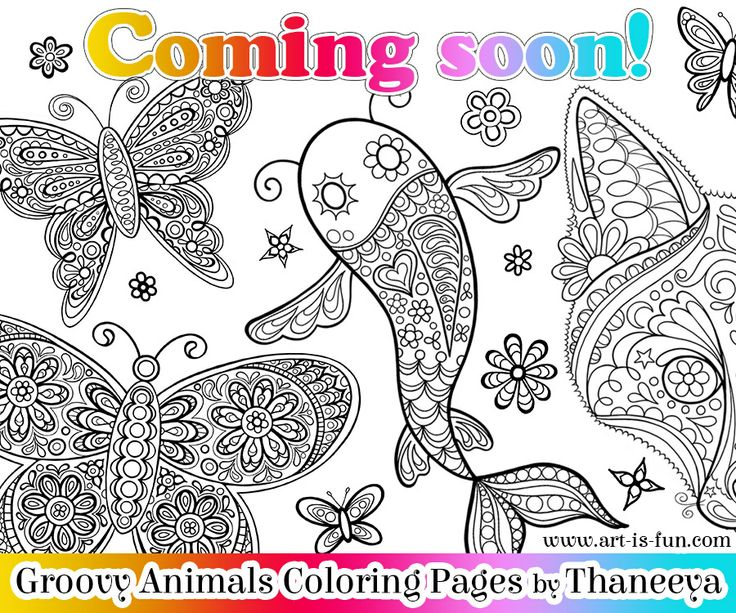 Groovy Animals Coloring Pages : Images about coloring pages by thaneeya printable