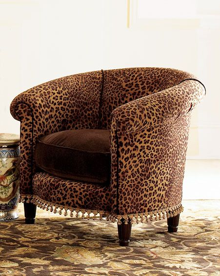 Cheetah Tub Chair -  Animal Prints -  Neiman Marcus