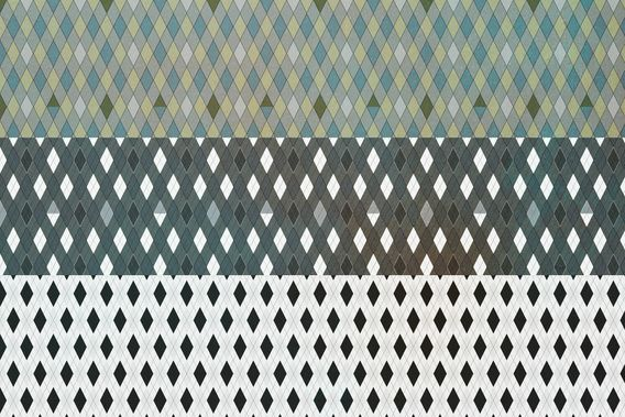 Nieuw in mijn Werk aan de Muur shop: Grafisch patroon, ruit