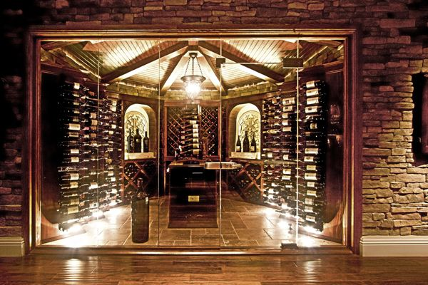 Glass Enclosed Wine Cellars
