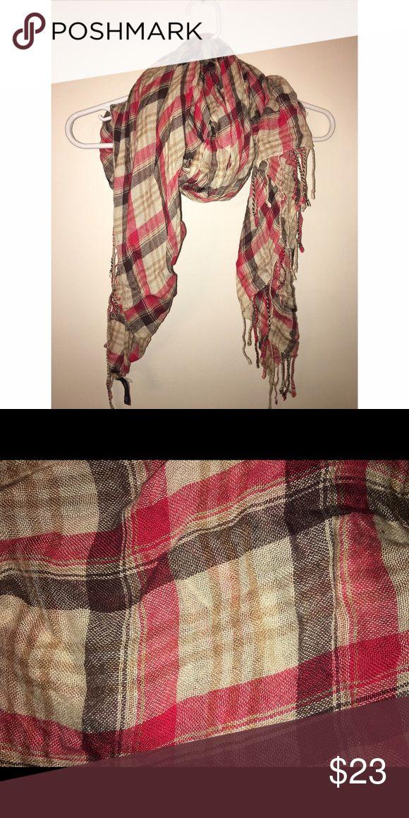 GAP FASHION SCARF Red / Tan / Brown GAP Accessories Scarves & Wraps