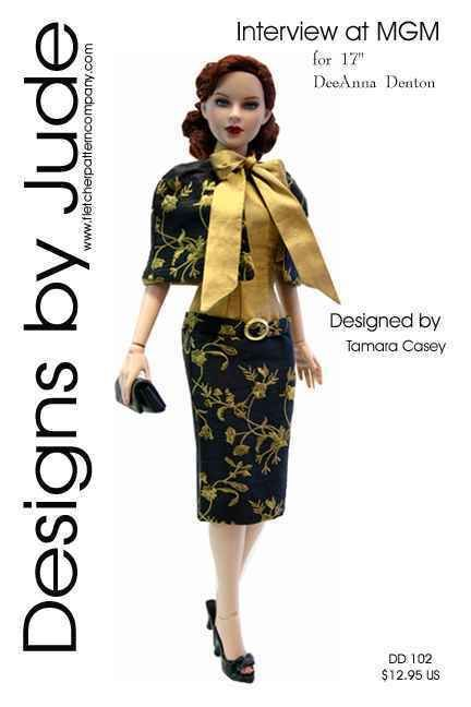 """Lunch Date Doll Clothes Sewing Pattern 17/"""" Athletic Body DeDe Denton Tonner"""