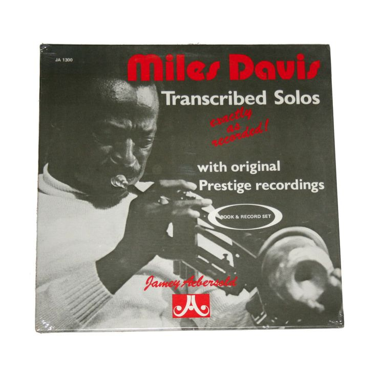 "*SEALED* Miles Davis / Jamey Aebersold ""Miles Davis Transcribed Solos"" (JA 1300)"
