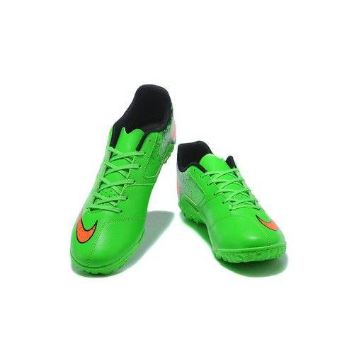 online store 5e3e8 6df53 chaussure de foot salle Nike Hypervenom Phade II Neymar TF Verte Noir  Orange soldes