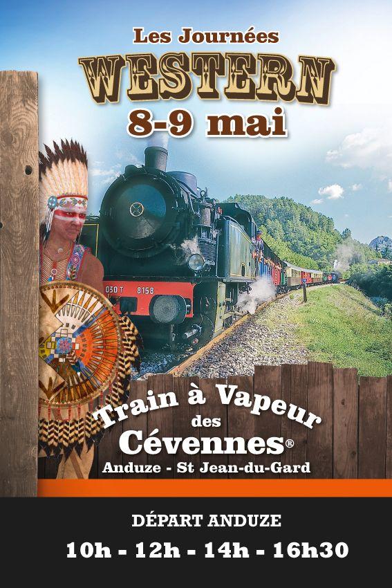 journée western avec le Train à Vapeur des Cévennes