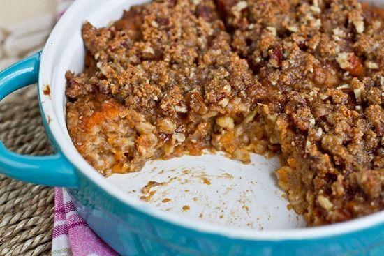 Sweet potato oatmeal breakfast casserole yuuuppp!